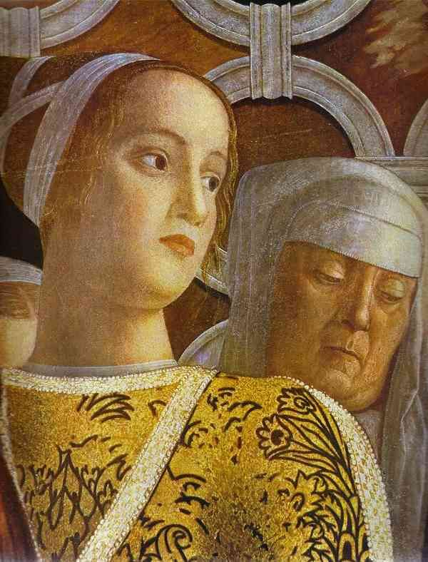 Ludovico III of Gonzaga with family and court; Artist: Andrea Mantegna, fresco detail