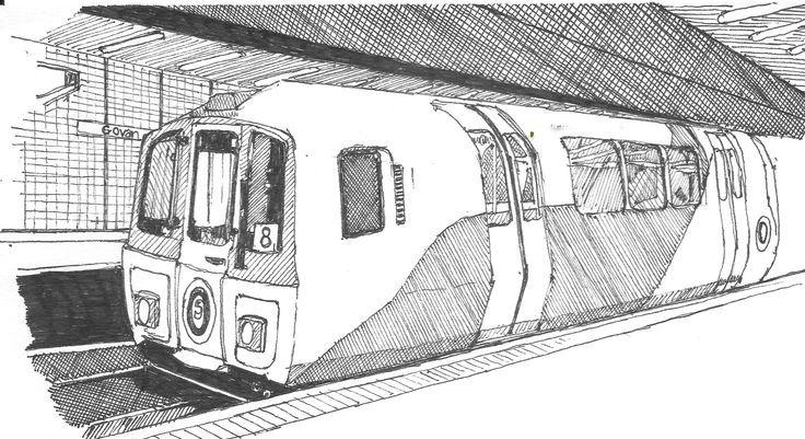 Subway Training Subway Training U Bahn Training Formation De Metro Entrenamiento De Metro Training Motiv In 2020 Train Sketch Train Drawing Graphic Novel Art