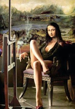 pinterest-Mona Lisa resting after posing? (70 pieces)