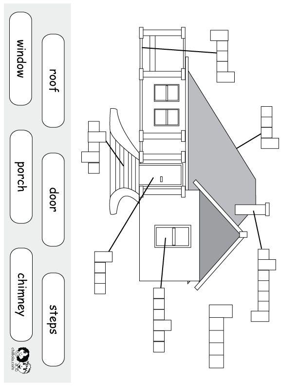 Ficha elementos de una casa
