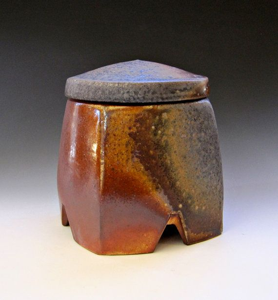 Anagama Fired Square Jar by rogerjamison on Etsy, $90.00