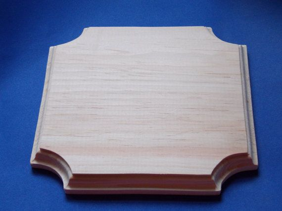 Square Fancy Unfinished Wood Plaque by MumkenzGiftShop on Etsy