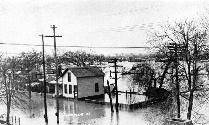 Superior street 1913 flood (With images) Fort wayne