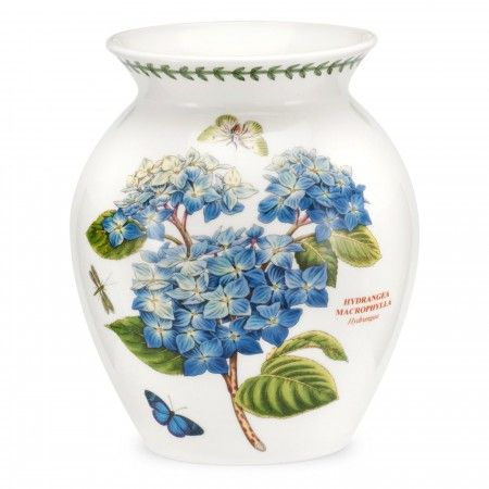 Portmeirion Botanic Garden 8 inch Vase - Hydrangea -Portmeirion UK