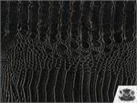 Vinyl Crocodile Allie BLACK Fake Leather Upholstery Fabric By the Yard