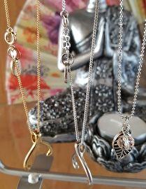 Wishbone ketting Silver & gold plated by Jozemiek