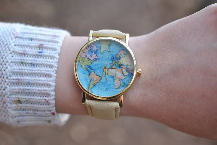 Lovely world map watch by AyoBijou