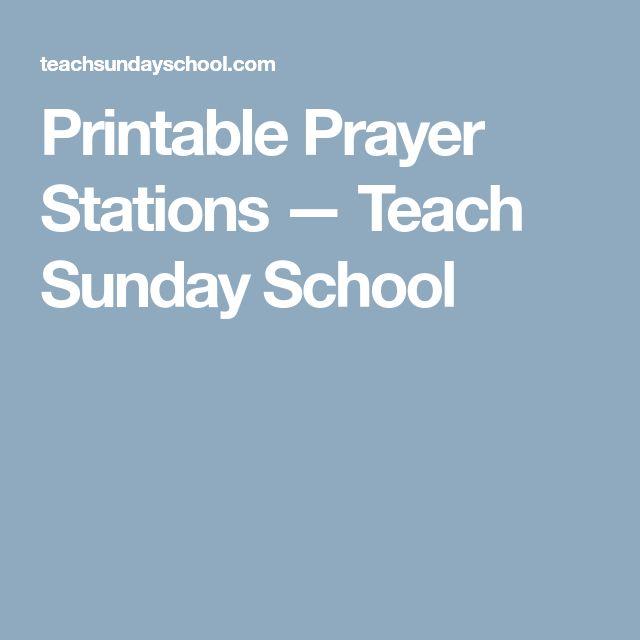 Printable Prayer Stations — Teach Sunday School