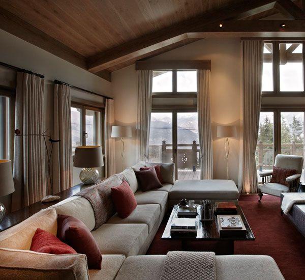 Thurnbichlweg chalet beautiful interiors modern cabins - Todhunter Earle Courchevel Chalet Designer Todhunter