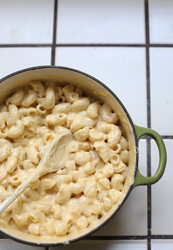 Macaroni and Cheese  3 T of butter  3 T of flour  1 can of evaporated milk  1 box of pasta  1 cup of milk  2 cups of sharp cheddar cheese  Pinch of: Salt, garlic powder, pepper, nutmeg    The way I learned to make it--very good!