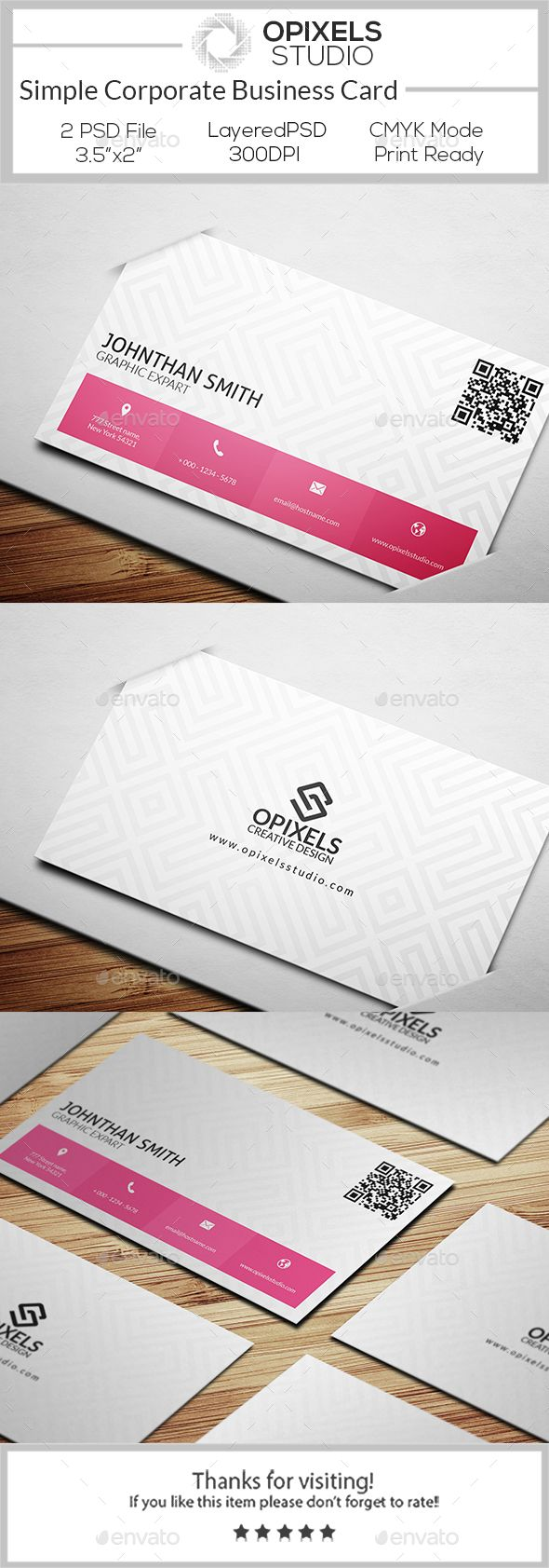 Business card printing free templates from nextdayflyers - Simple Corporate Business Card