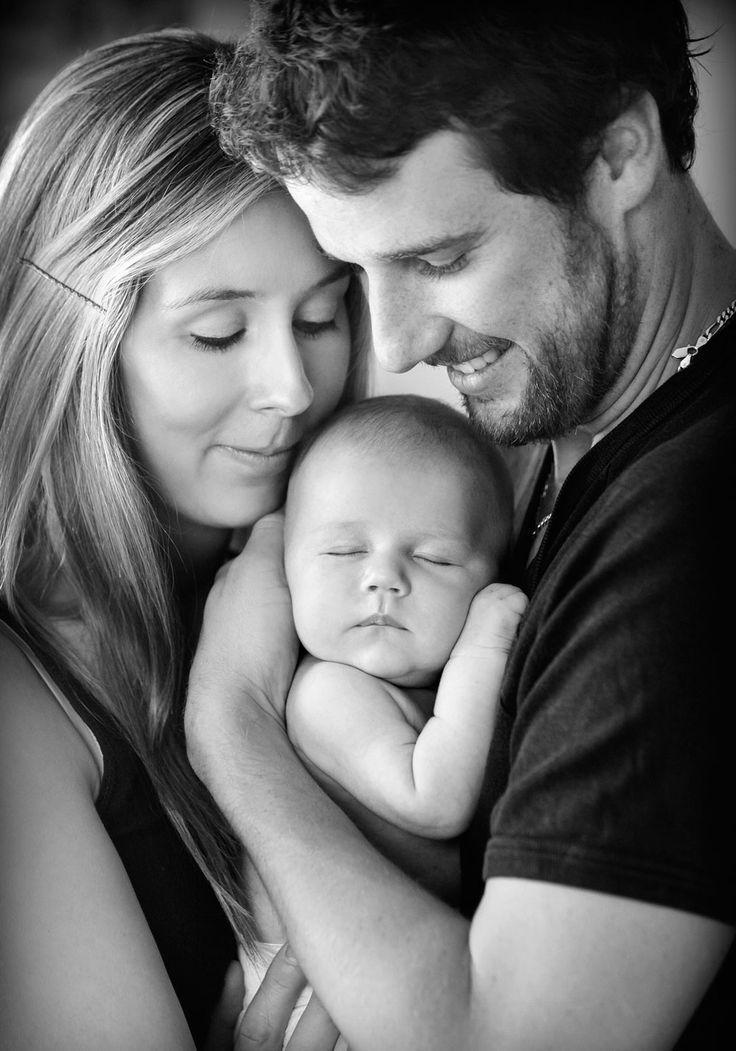 süßes Familienfoto