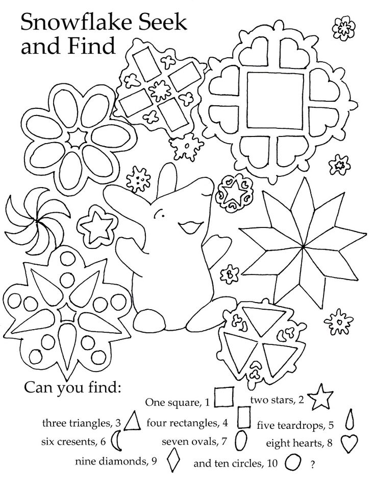 Free Preschool Printable. Learn shapes and color in a beautiful coloring page.