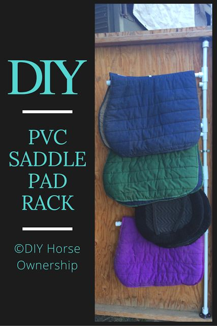 Do It Yourself Horse Ownership: DIY: How To Make A Swiveling PVC Saddle Pad Rack