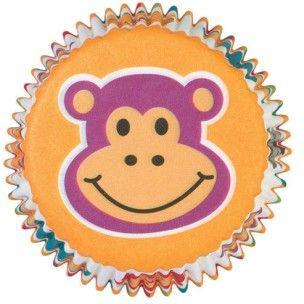 Wilton baking cups met apenkoppen!