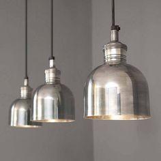 flori tarnished silver pendant light by rowen & wren | notonthehighstreet.com