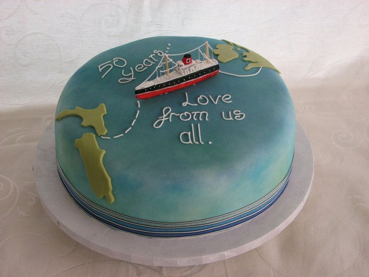 how to make a world map cake