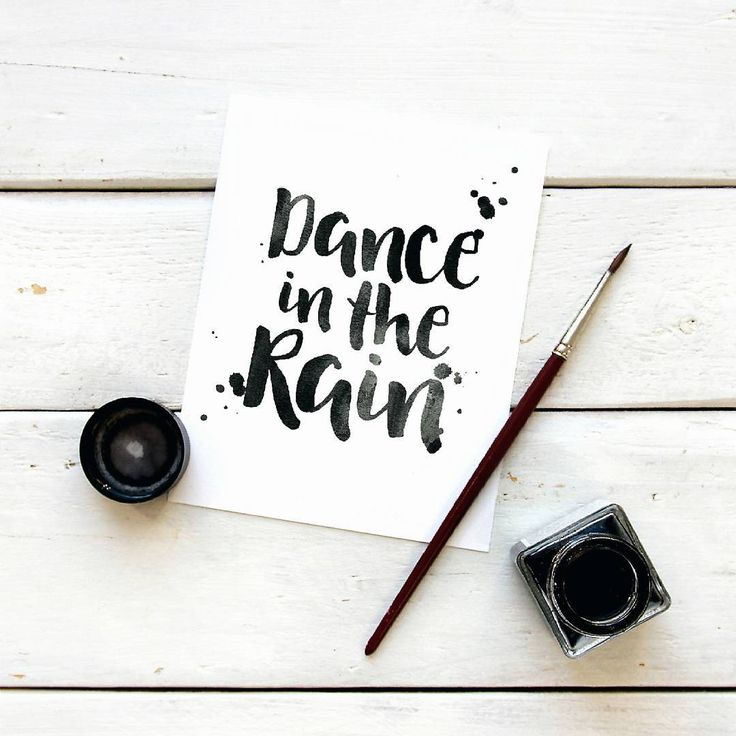 A short lightbox rain quote, perfect for A4 size lightboxes: dance in the rain.