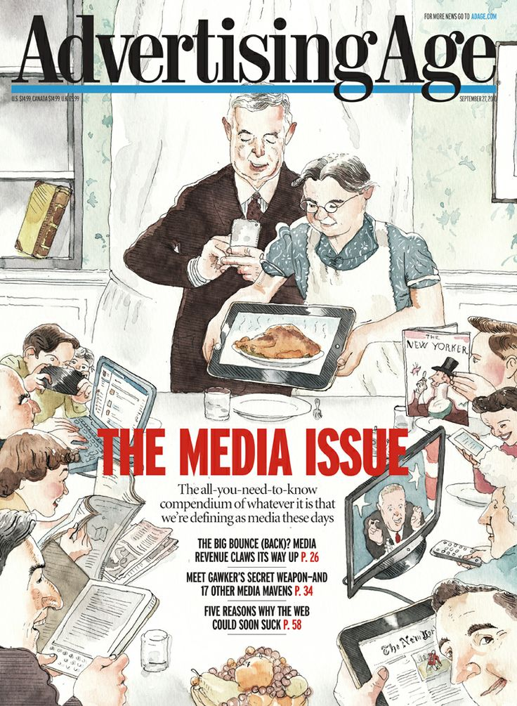 Advertising Age magazine cover, Illustration by Barry Blitt