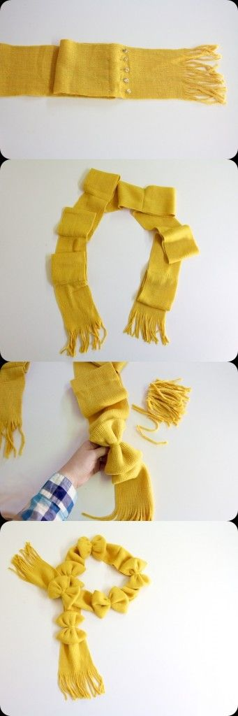 """""""Wrapped in Bows"""" Scarf Tutorial! :DIY and Craft Tutorials"""