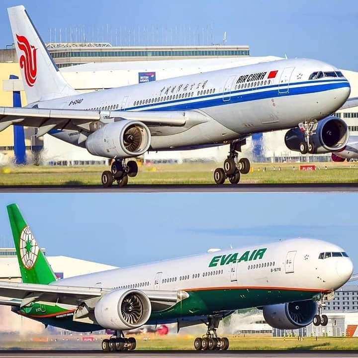 Airbus A330-300 Air China VS Boeing 777-300er Eva Air at London...Which one  do you like the... | Eva air, Air china, Boeing 777