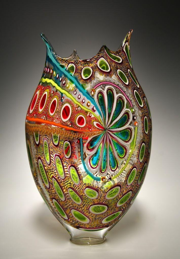 Glass artist David Patchen uses an old Italian technique (murrhine) in contemporary art.