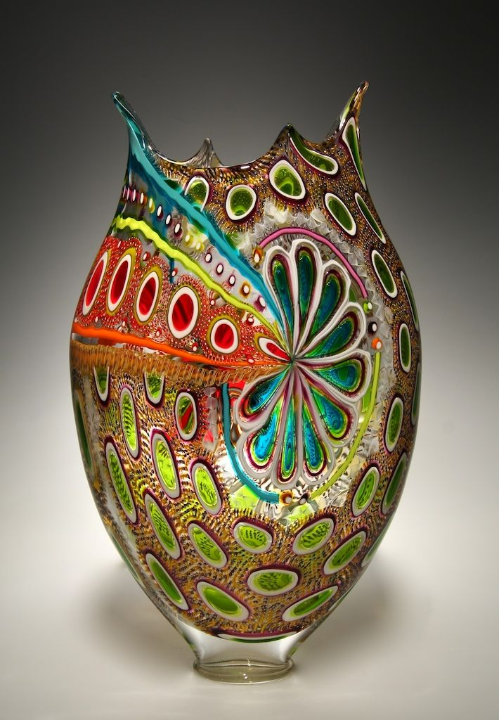Glass artist David Patchen uses an old Italian technique (murrhine) in contemporary art.