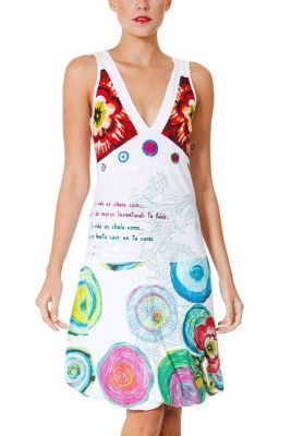 Desigual women�s Soles dress from the Fun range. A classic Desigual dress which has been updated for this season. The bubble skirt and new Galactic shapes add a youthful edge