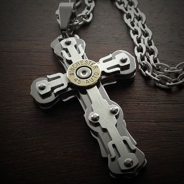 129 best jewelry images on pinterest bullet jewelry bullet bullet jewelry by jectz riveted cross bullet necklace for men 6995 http aloadofball Gallery