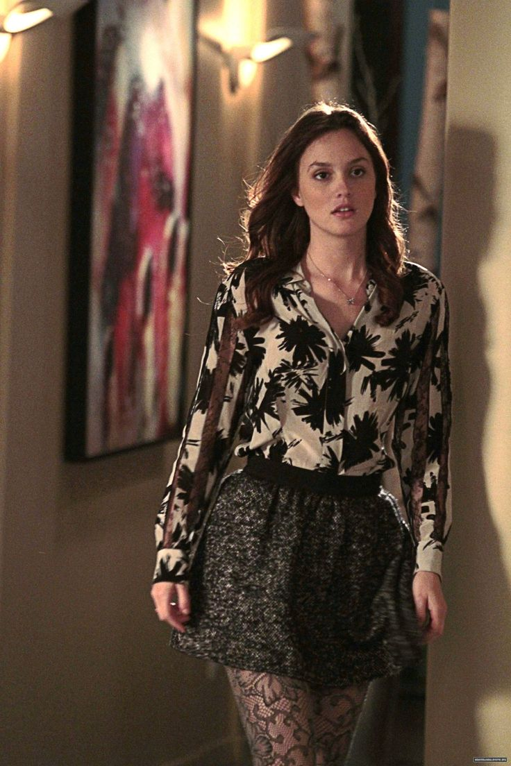 blair waldorf// what I can do with those patterned stockings i bought :)