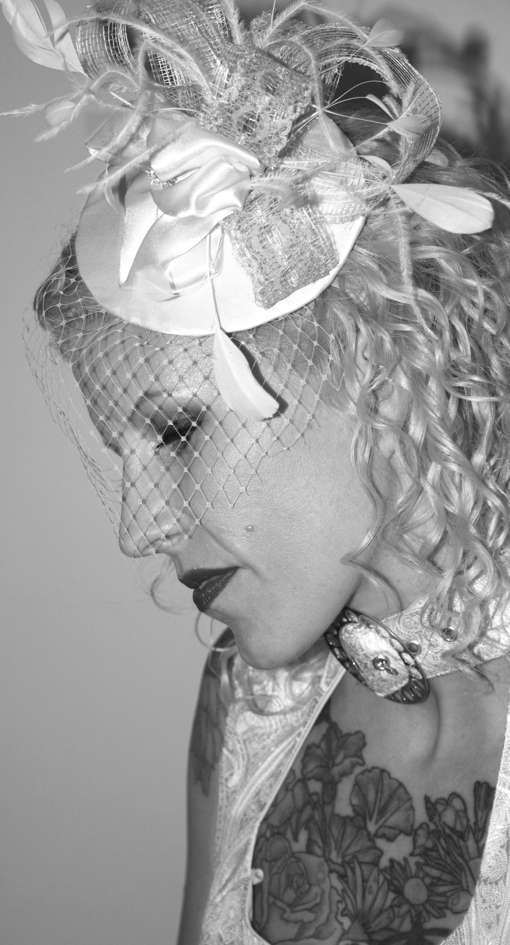 Indie I Do   Vancouver's Alternative Bridal Show    Custom Bridal Fascinator  with Birdcage netting