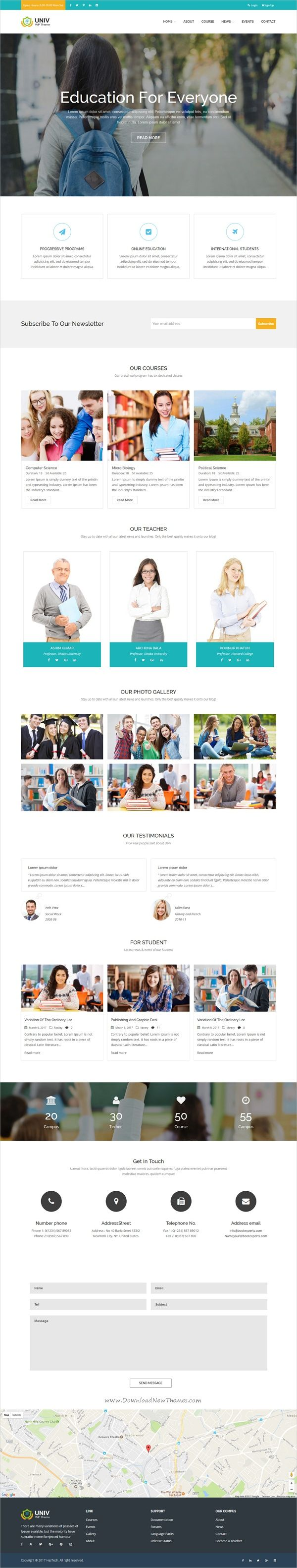 Univ is an awesome design responsive #WordPress theme for #edtech academy, campus, #school, e-learning portal or any #educational institutions website download now➩ https://themeforest.net/item/univ-education-wordpress-theme/19659022?ref=Datasata
