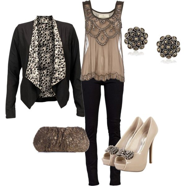 beautiful top & earrings: Shoes, Fashion, Style, Clothing, Shirts, Cute Outfits, Girls Night, Jackets, Date Night Outfits