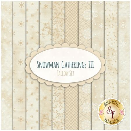 Snowman Gatherings III  10 FQ Set - Tallow Set by Primitive Gatherings for Moda Fabrics