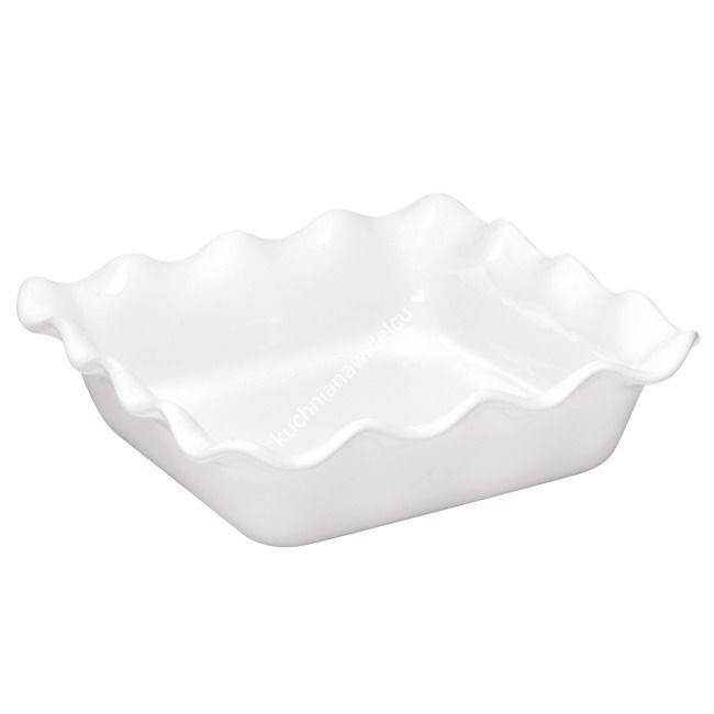 Ceramiczna forma kwadratowa z karbowanym brzegiem - 24x24 cm   EMILE HENRY