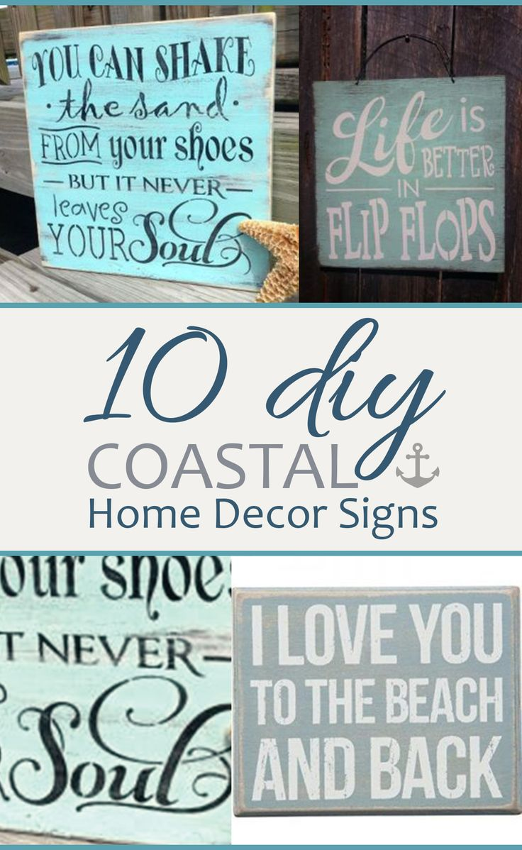 10 DIY Coastal Home Decor Signs