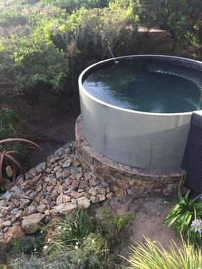 a really sturdy looking hottub somewhere on the property