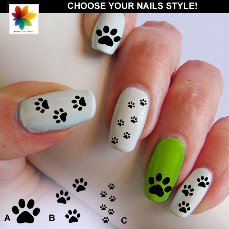 Show your school spirit with these cat paw nail paw print nail decal 90  by Nailsgraphicworld on Etsy, $6.90