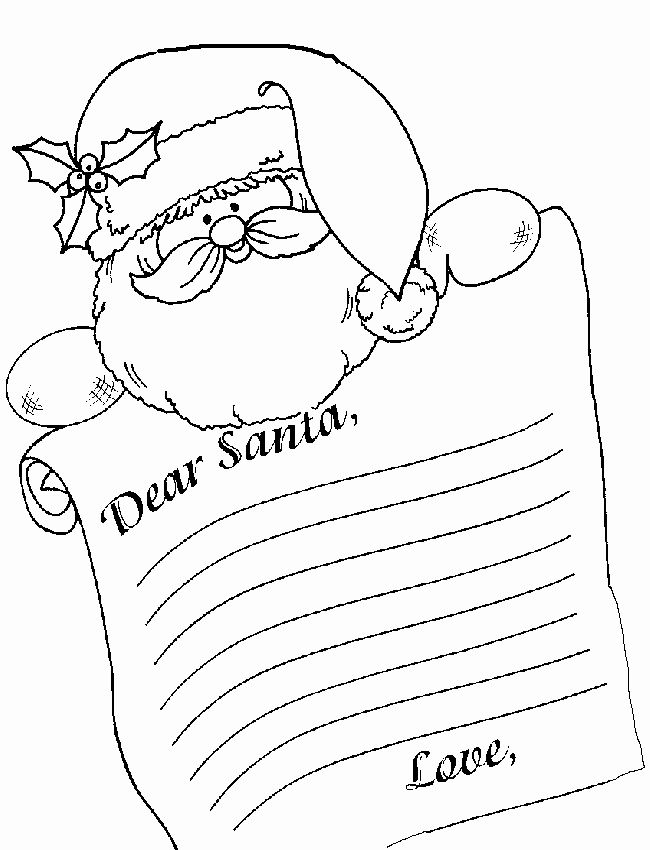 Christmas List Coloring Page Best Of Letter To Santa Santa Coloring Pages Coloring Books Thanksgiving Coloring Pages
