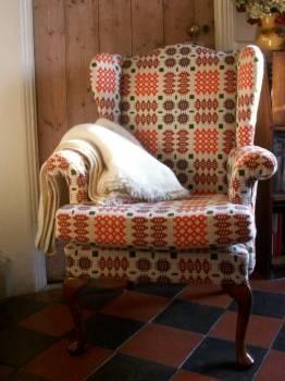 Welsh tapestry fireside chair