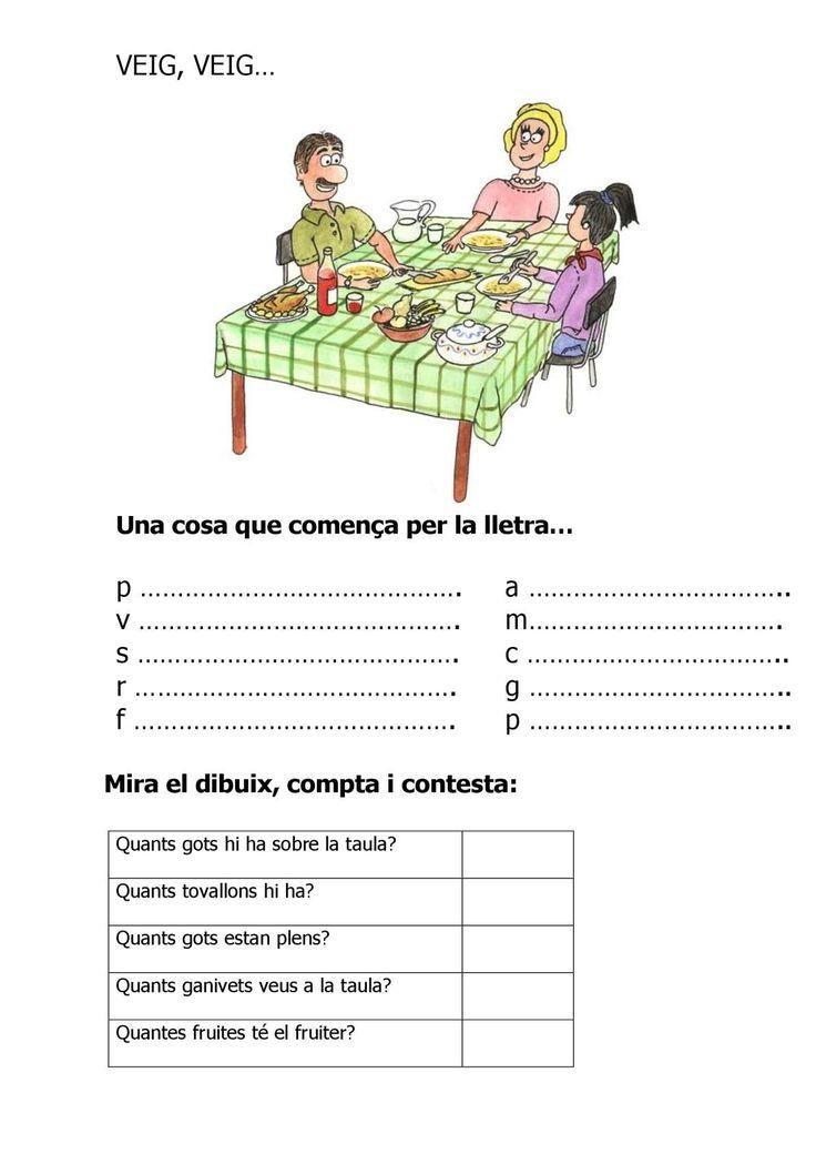 Material del VEIG VEIG on l'alumne ha de buscar una imatge que comenci per una lletra determinada. Elaborat per Ester Bertrán.