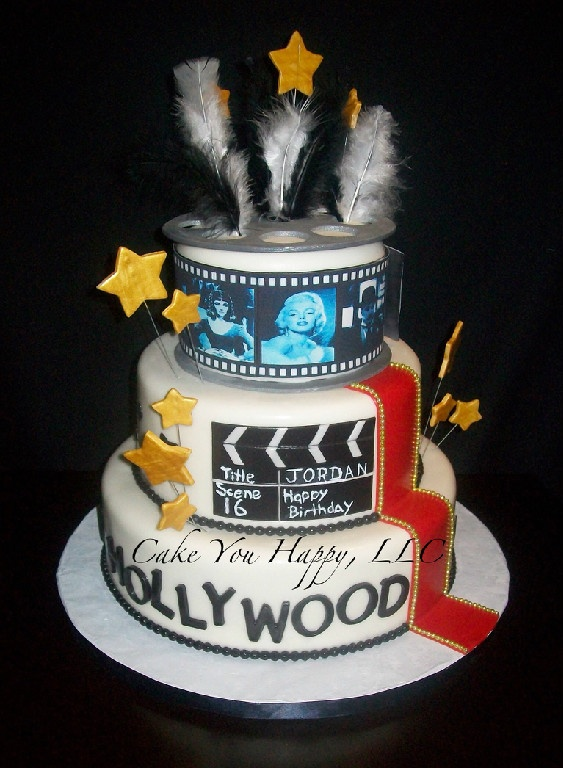 Old Hollywood Birthday Cake Hollywood Cake Old