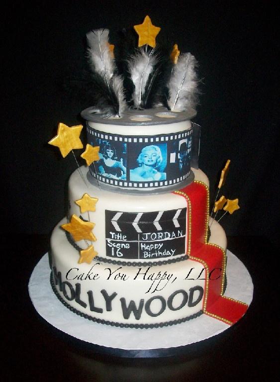 Old Hollywood Birthday Cake Hollywood Cake Old