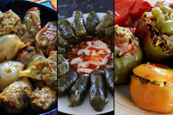 When Assyrians think of dolma, they don't think about appetizers. Dolma is eaten as a main meal. It's not just about the vine leaves; cabbage leaves, onions, capsicums, eggplants, zucchini, tomatoes and even granny smith apples are stuffed with the rice filling. Dolma is eaten with a garlic yoghurt sauce and sometimes a red onion sauce. The Assyrian version of dolma not only contains rice, but includes lamb and loads of diced fresh herbs. Vegetarian versions (which is also vegan) is eaten…