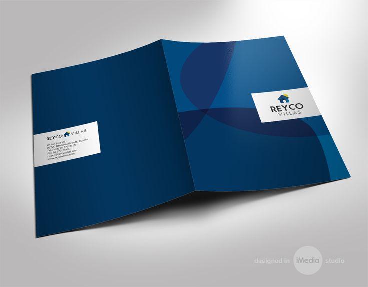 #diseño #carpetas e impresión para la empresa Reyco Villas de Benissa, Alicante