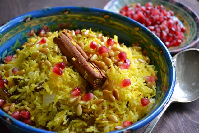 ... view from Great Island, Saffron Rice with Golden Raisins and Pine Nuts