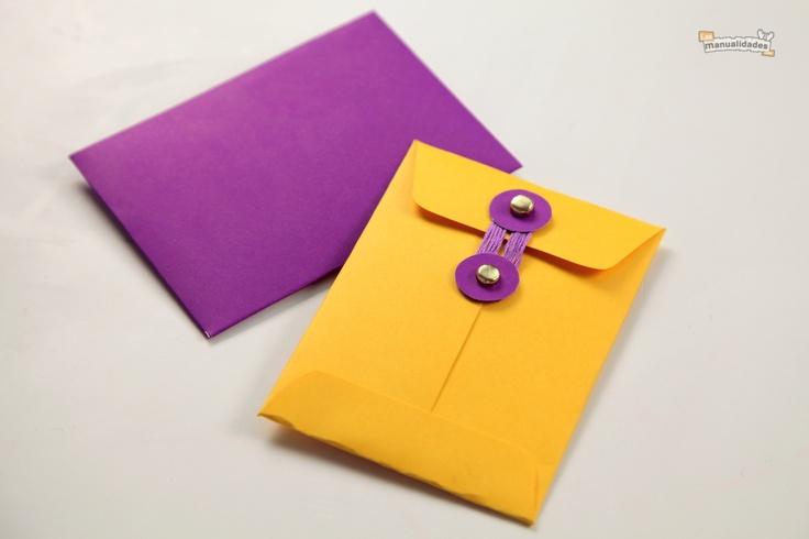C mo hacer sobres para tarjetas papel pinterest how - Manualidades para hacer tarjetas ...
