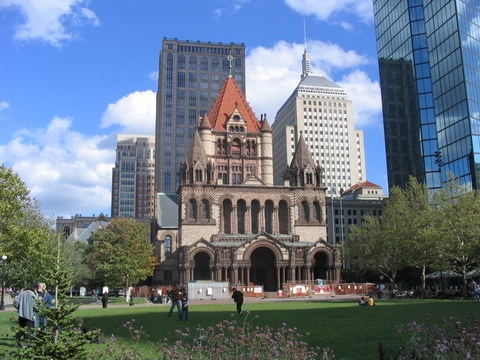 Boston, MA - Trinity Church is gorgeous.  I went to church there as a college student when I was still waffling with faith.: Boston 91711, Places Ives, Trinity Church Boston, Favorite Places, Boston History, Ideal Places, Wedding Places, Colleges Students, Boston Copley