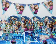 104 stuks Bevroren feestartikelen kid verjaardag leveranciers meisjes kind Decorations avondfeest set decoration viering (China (vasteland))
