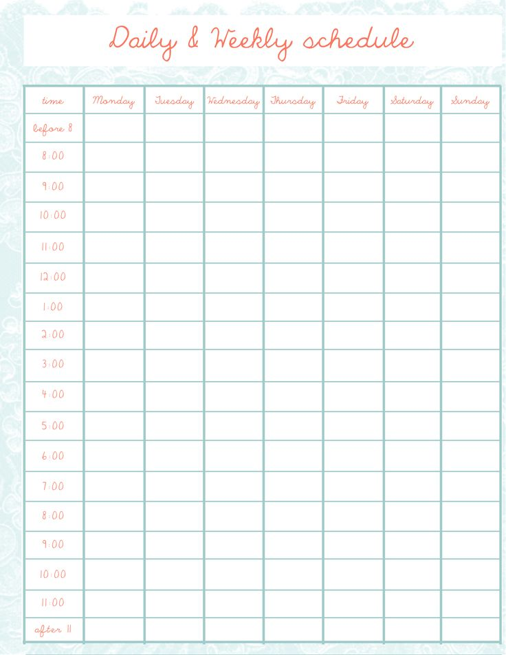 Best 25+ Daily schedule template ideas on Pinterest Daily - printable time sheet